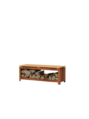 Forno Houtopslag Bank - Cortenstaal (1200x400x430mm)